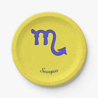 !Scorpio t Paper Plate
