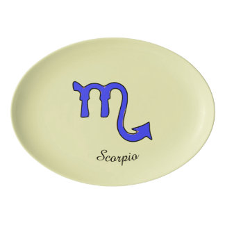 !Scorpio t Porcelain Serving Platter