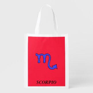 !Scorpio t Reusable Grocery Bags