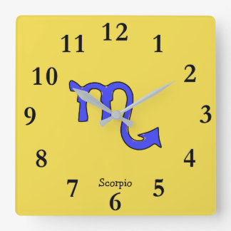 !Scorpio t Square Wall Clock