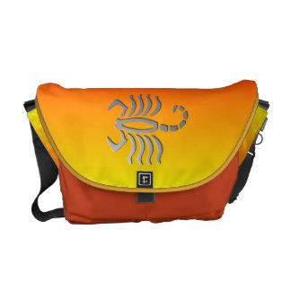 Scorpio The Scorpion Silver Zodiac Sign Messenger Courier Bags