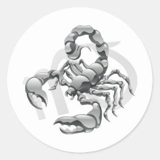 Scorpio the scorpion star or birth sign classic round sticker
