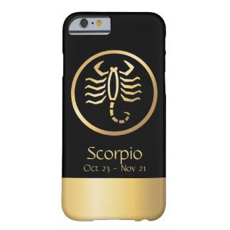 Scorpio the Scorpion Zodiac Black Gold Barely There iPhone 6 Case