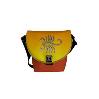 Scorpio The Scorpion Zodiac Sign Mini Messenger Courier Bag