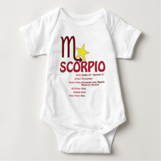 Scorpio Traits Baby Baby Bodysuit