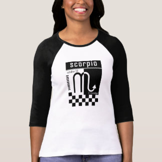 Scorpio Two-Tone Zodiac Baseball T-Shirt. T-Shirt