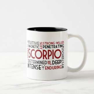 Scorpio Word Collage Mug