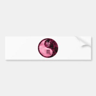 Scorpio Yin Yang Bumper Sticker