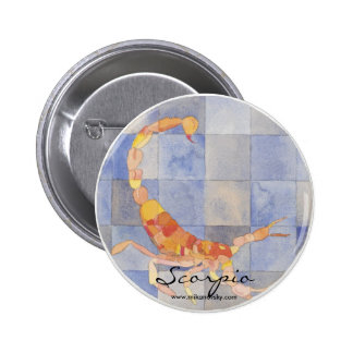 Scorpio Zodiac 2 Inch Round Button