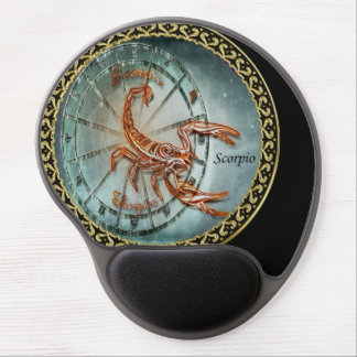 Scorpio Zodiac Astrology black gold foil design Gel Mouse Pad