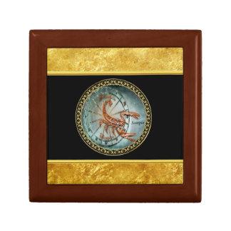 Scorpio Zodiac Astrology black gold foil design Gift Box