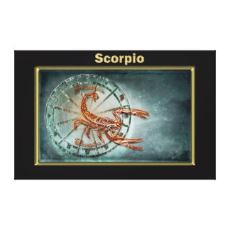 Scorpio  Zodiac Astrology design Canvas Print