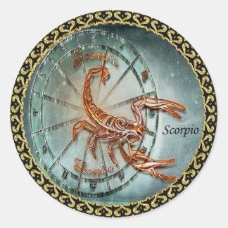 Scorpio Zodiac Astrology design Classic Round Sticker