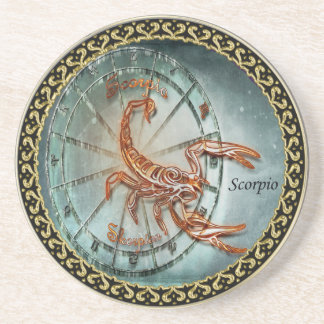 Scorpio Zodiac Astrology design Coaster