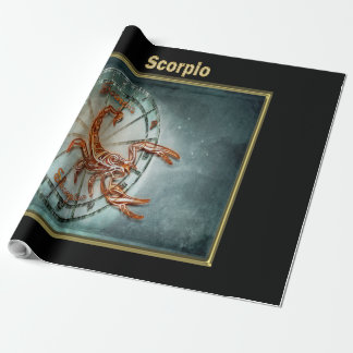 Scorpio Zodiac Astrology design Horoscope Wrapping Paper