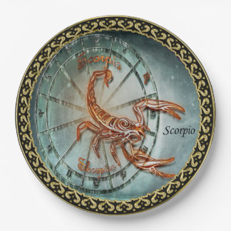 Scorpio Zodiac Astrology design Paper Plate
