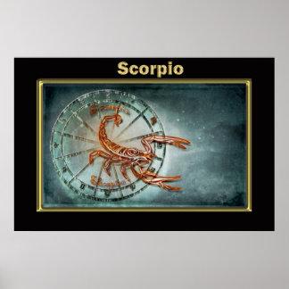 Scorpio  Zodiac Astrology design Poster