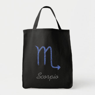 Scorpio. Zodiac Astrology Sign. Blue.