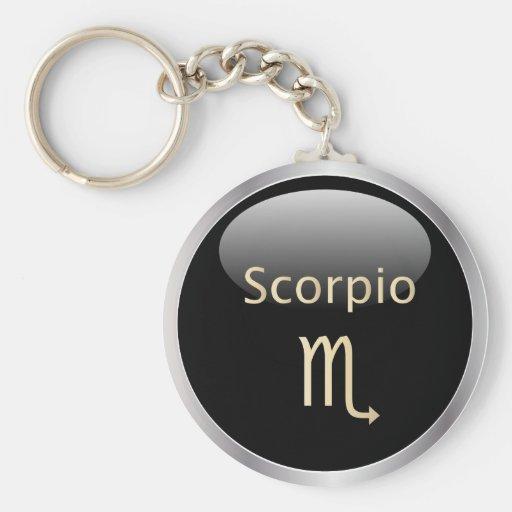 Scorpio zodiac astrology star sign keychain