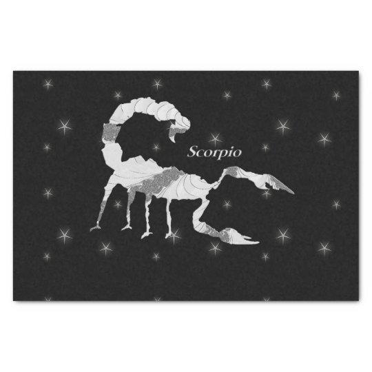 Scorpio Zodiac Design Black Tissue Paper