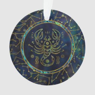 Scorpio Zodiac Gold Abalone on Constellation Ornament
