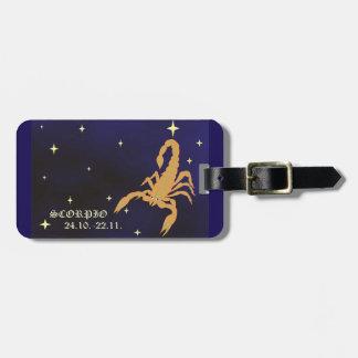 Scorpio zodiac Luggage Tag