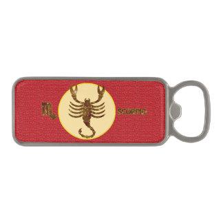 Scorpio Zodiac Red Marble Magnetic Bottle Opener