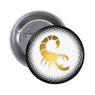 Scorpio Zodiac Sign 2 Inch Round Button