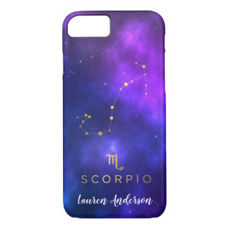 Scorpio Zodiac Sign Custom Name IPhone Case