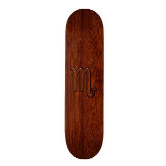 Scorpio Zodiac Sign in Mahogany Style Skate Boards