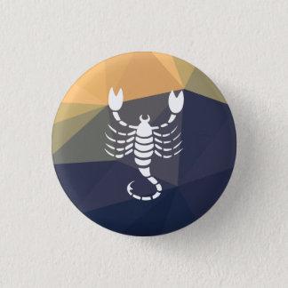 Scorpio zodiac sign round button. 1 inch round button
