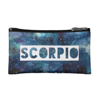 Scorpio Zodiac Star Sign Blue Galaxy Print Makeup Bag