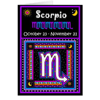 Scorpio Zodiac Symbol Card