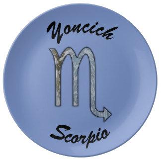 Scorpio Zodiac Symbol Element by Kenneth Yoncich Plate