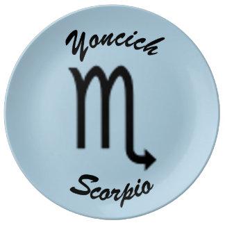 Scorpio Zodiac Symbol Standard by Kenneth Yoncich Plate