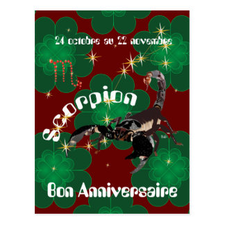 Scorpion 24 octobre outer 22 novembre Cartes of Postcard