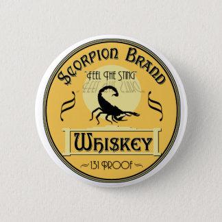 Scorpion Brand Whiskey 2 Inch Round Button