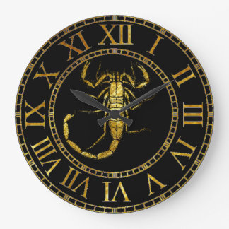Scorpion In Gold Large Clock