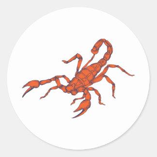 Scorpion ~ Insect Scorpio Scorpions Classic Round Sticker