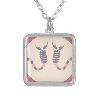 scorpion silver plated necklace