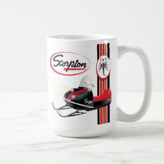 Scorpion snowmobiles coffee mug