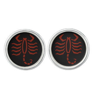 Scorpion Symbol Cuff Links