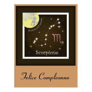 Scorpione 24 ottobre Al 22 novembre postcard