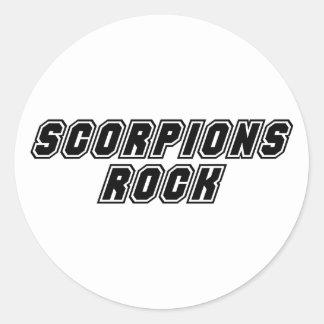 Scorpions Rock Classic Round Sticker