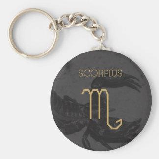 Scorpius Zodiac Sign | Custom Background + Text Keychain