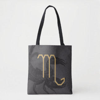 Scorpius  Zodiac Sign | Custom Background Tote Bag