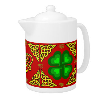 Scotalnd Celtic design/Green shamrock,clover