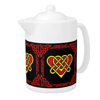Scotalnd Celtic/gold/red braided heart, 3, black