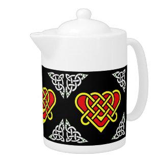 Scotalnd Celtic/white/gold braided heart, black