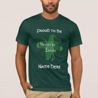 Scotch Irish Plaid Shamrock T-Shirt